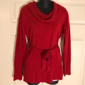 Red tie sweater